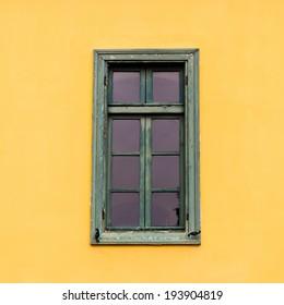 Colorful window in Greece.