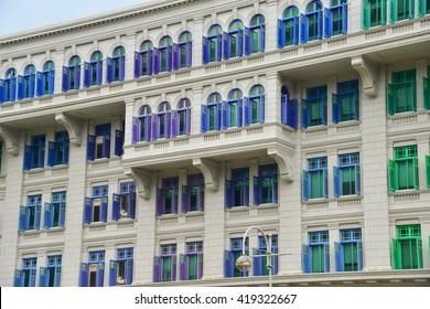 Colorful Window Make Building More Beautiful