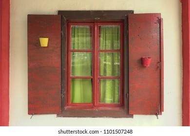 colorful window, Montenegro