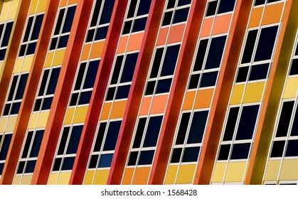 Colorful windows in Tel aviv , Israel.