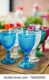 colorful wineglasses