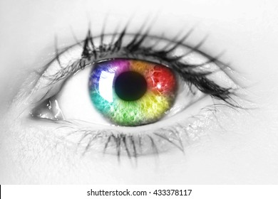 Colorful woman eye