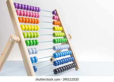 Colorful of wood abacus