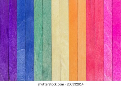 colorful wood ice-cream stick background