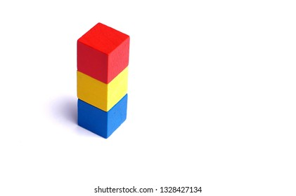 Colorful wooden block