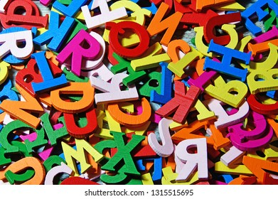 colorful wooden letters