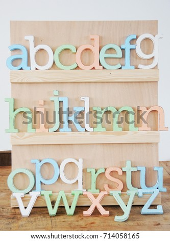 Colorful Wooden Letters Alphabet For Kids Room Or Nursery Room Decor,  Alphabet Wall, Craft