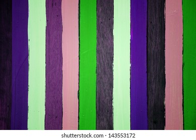 colorful wooden panel