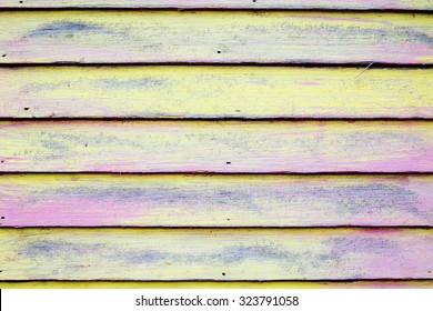 Colorful wooden panel wall background texture