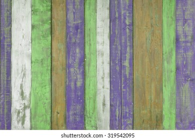 Colorful Wooden Plank Panel Background Texture