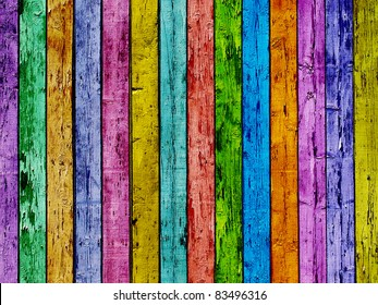Colorful wooden planking background.