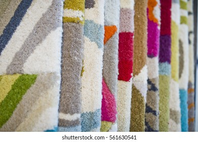 colorful wool carpets in stores