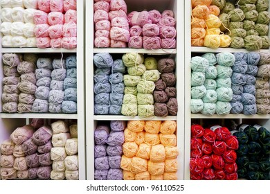 Colorful wool knitting