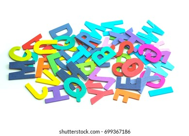 Colorful Word Background on white