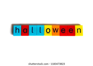 Colorful word: halloween