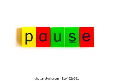 Colorful word: pause