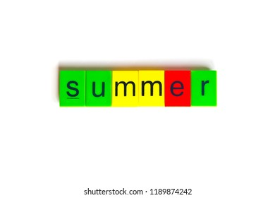Colorful word: summer