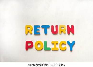 Colorful words Return Policy. Conceptual photo. Place for text