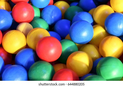 The colorful world of bathing balls.