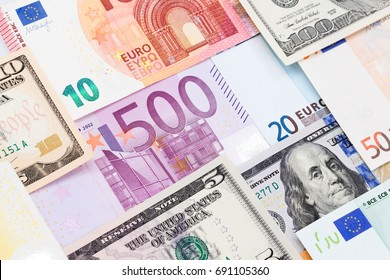 Colorful world paper money background. High resolution photo.