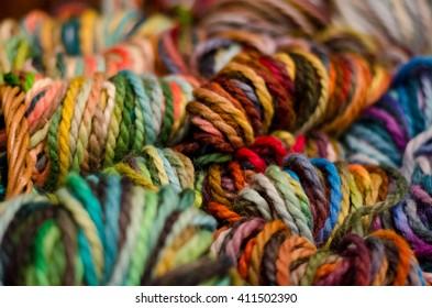 Colorful world of yarns
