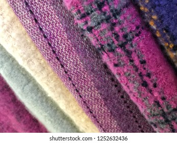 colorful woven clothes as a background