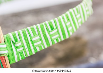 colorful woven and Weave strips background