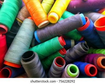 Colorful Yarn Cones