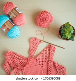 Colorful Yarns for Knitting and Crochet