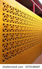 Colorful yellow wall.