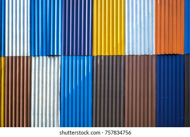 colorful  zinc wall backgrounds textures