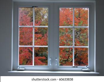 Colorfull autumn window