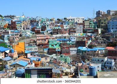Colorfull buildings in Pusan, South Korean