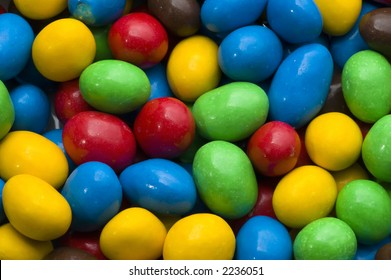 colorfull chocolate candies spread