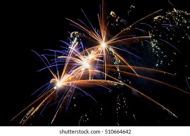 Colorfull firework on a black background