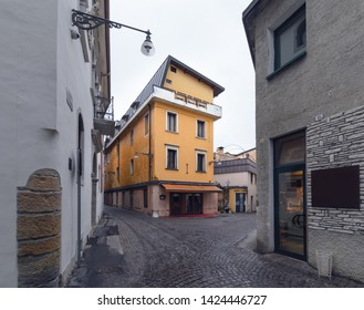 Colorfull house in the centre of Belluno. Italy. Europe