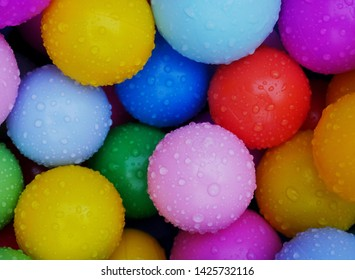 Colorfull marbles balls boules background fun kids