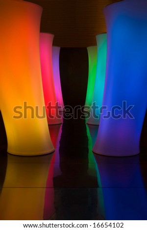 colorfull pillars