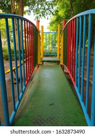 Colorfull playground path for kids