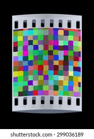 Colorfull puzzle background. The film strip