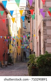 Colorfull street of Bosa
