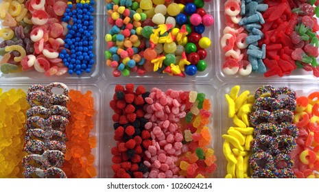 Colorfull sweets and candys