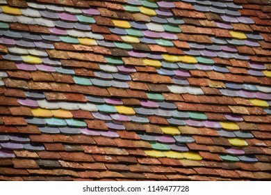 Colorfull tiles on a roof