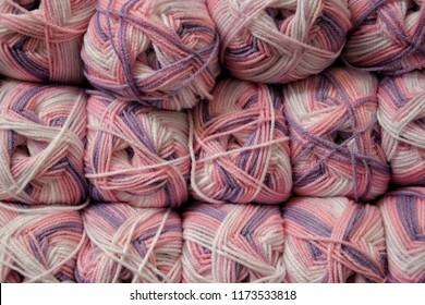 Colorfull woolen skeins