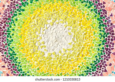colorfullittle mosaic in circle pattern background