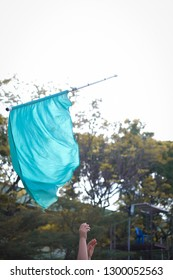 colorguards spinning flags
