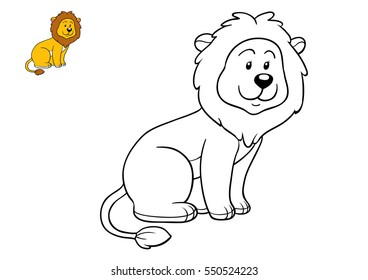 Coloring book for children, Lion
