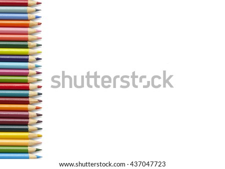 Coloring Crayons Assorted Color Pencils Isolated Stock Photo (Edit ...