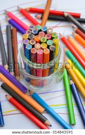 Coloring Crayons Color Pencils Wooden Crayon Stock Photo (Edit Now ...