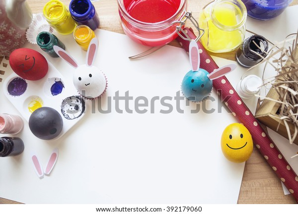 Coloring Easter Eggs Easter Day Concept Stock Photo (Edit ...